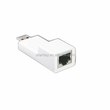 Super Speed Wholesale Price Portable usb 3.0 to ethernet lan adapter 10/100/1000Mbps usb female to ethernet rj45 adapter