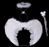 feather angel wing set with halo & wand
