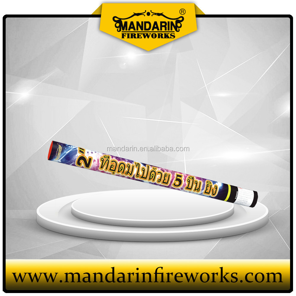 2 inch 5 shots big burst roman candles wholesale Mandarin Fireworks and Chinese firecrackers