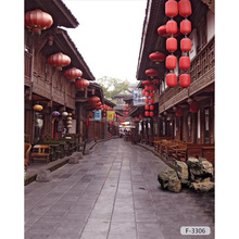 Best price Chinese scenic spots and historical sites street design background for photo studio/ portable photo backdrop