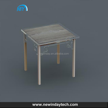 transparent customized simple square acrylic table, lucite snack table furniture acrylic material