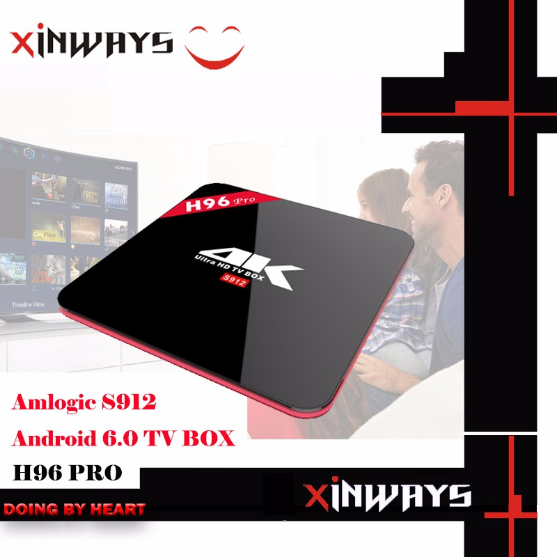 h96 pro Android 6.0 TV Box octa Core 2G + 16G 2.4/5.8G Wifi Bluetooth Smart Media Player kodi tv box