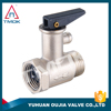 TMOK brass safety valve with pressure gauge and forged CW617n material and CE cetificate