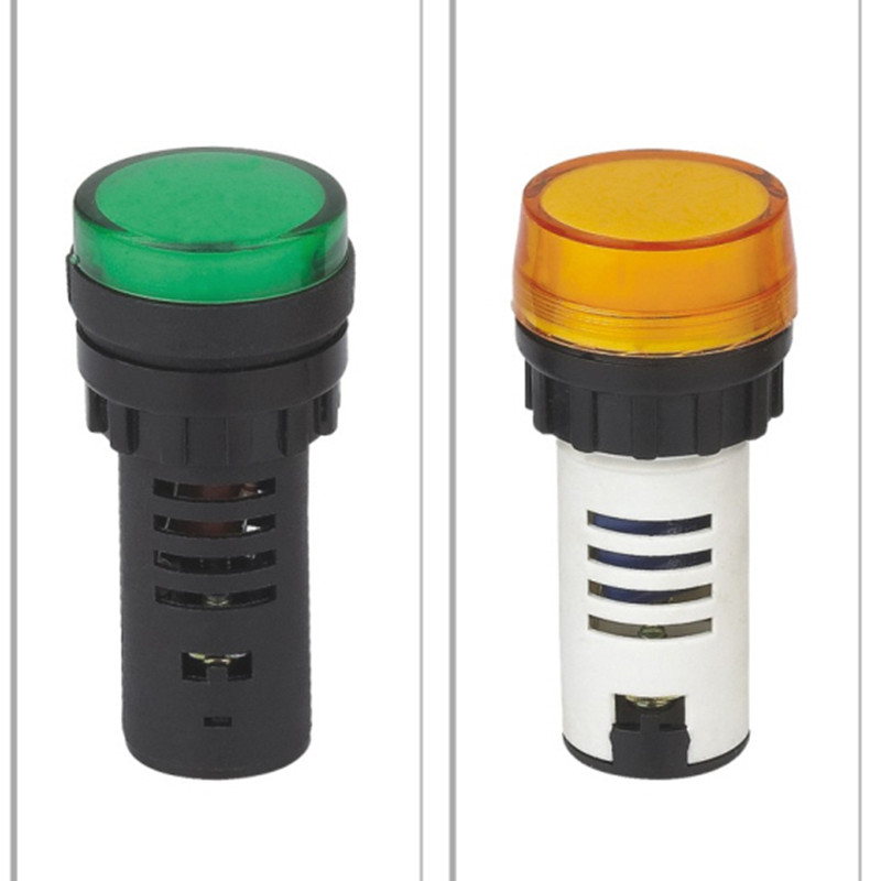 AC DC 12-380V square or round automotive led blinking industrial warning indicator lights