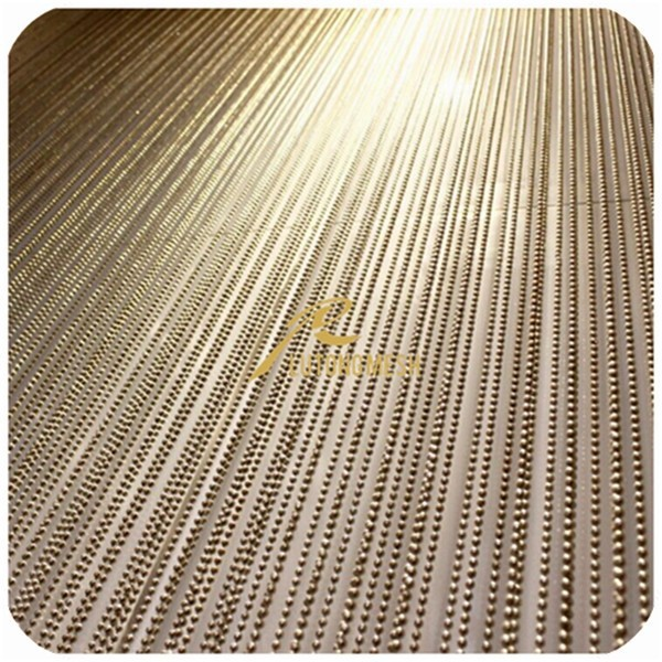 Hot sale Metal bead curtain decorative lobby with high quality