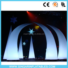 inflatable cone with 16 color remote led light,outdoor lighted inflatable decoration