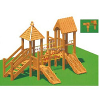 wooden outdoor playground, LZ-H549 school children climbing wall outdoor playground