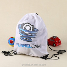 custom white drawstring pouch backpack travel bag