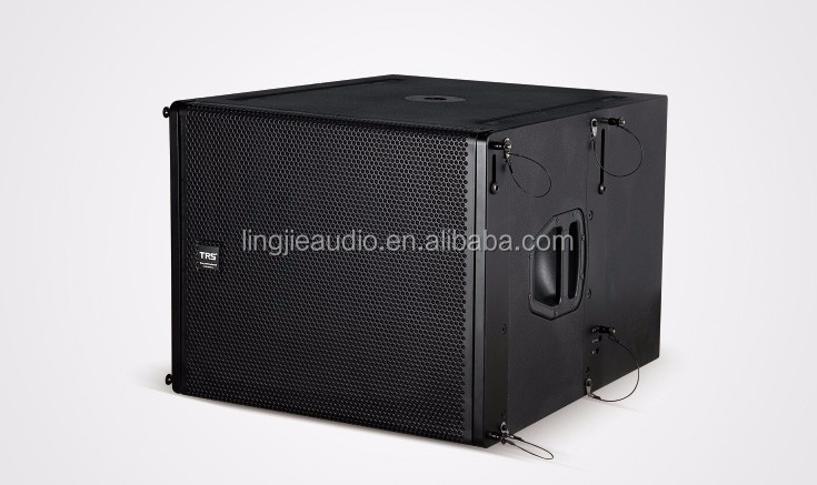 "TRS Q-SUB single 18"" arrayble subwoofer 18 inch bass speakers/1000W line array for outdoor stage"