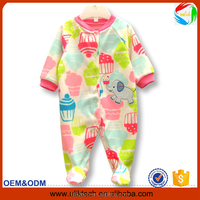 2016 hot sale organic cotton kid clothes fashion newborn baby clothes soft baby romper