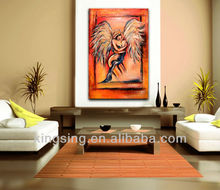 modern art nude women canvas painting of angel