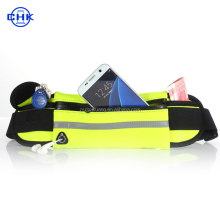 Adjustable elastic neoprene waterproof fitness colorful fanny pack belt running sports waist bag