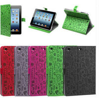 Cute Printed Leather Flip Cover for Ipad mini