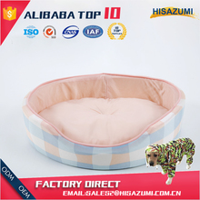 Wholesale Round Plaid Printing Cold Hint Pet Bed