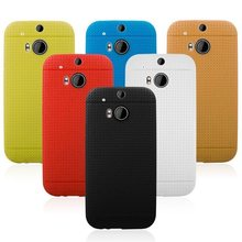 For HTC One 2 M8 Dot View Case, Shockproof Armor Rubber Dot View Style Soft TPU Case for HTC One 2 M8