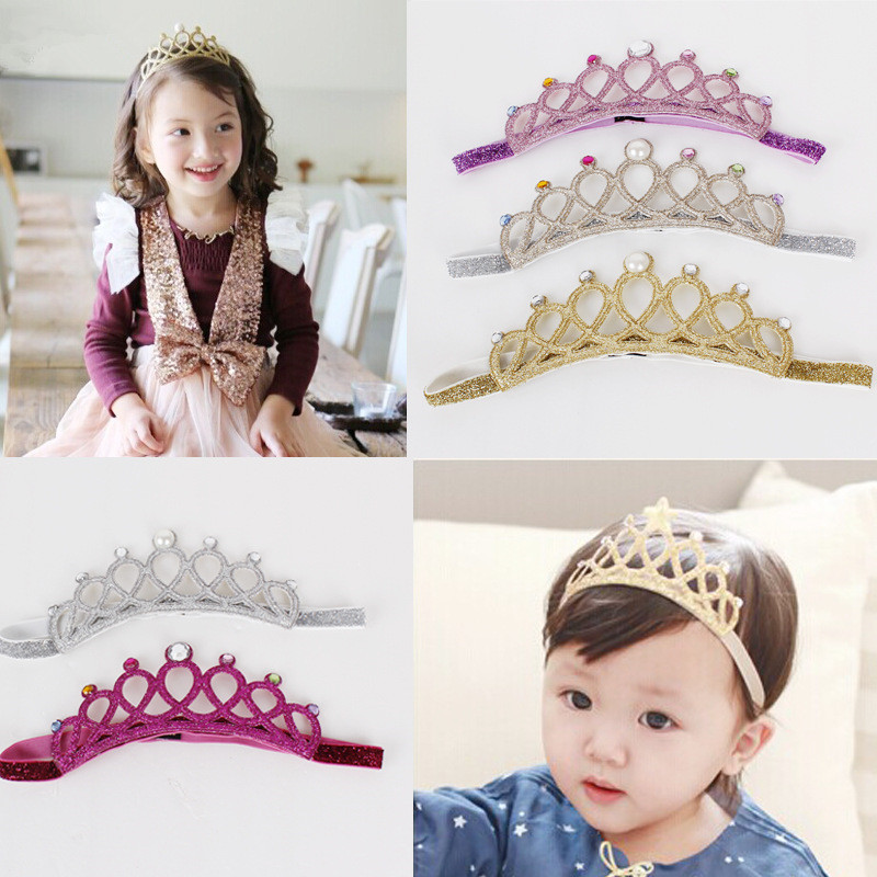 S31772W Hair accessories Crystal crown Children's hair band baby girl's Princess Crown Hairband