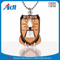 Fashion cheap custom shape metal laser engraved dog tag supplier