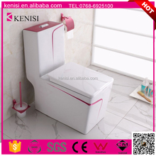 New Bathroom Design WC Toilet/Sanitary Ware Ceramic Color One Piece Toilet