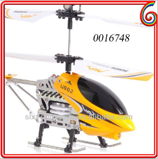 3 channel metal alloy model structure helicopter