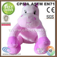 Lovely stuffed and plush hippo pink toys for Christmas decoration
