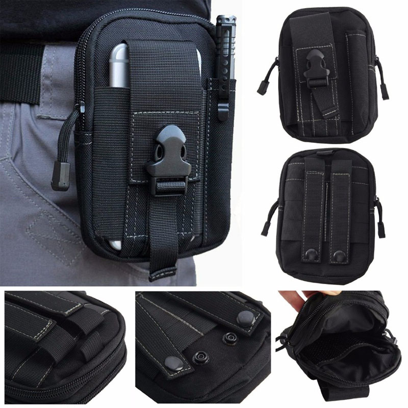 Military cell phone pouch case fashion tactical molle belt waist bag