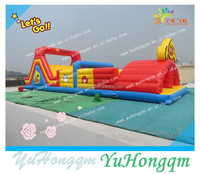 2015 new inflatable playground obstacle course, inflatable barriers sports games