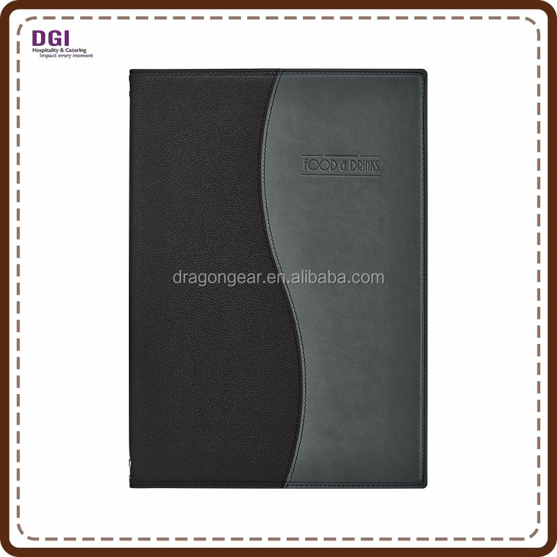 Hardback Menu Cover natural elegant leather restaurant menu sleeve
