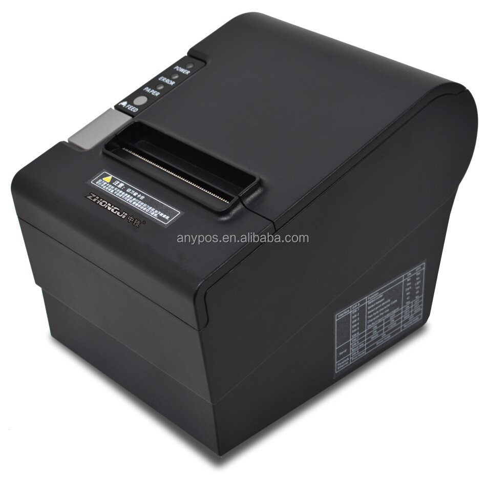 Pos Terminal 80mm Kitchen Thermal Receipt Printer,Pos Printer For Restaurant (USB,Serial, Ethernet Interface)