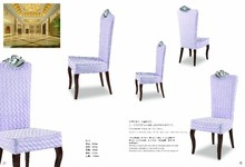 purple luxury high back banquet chair with crown