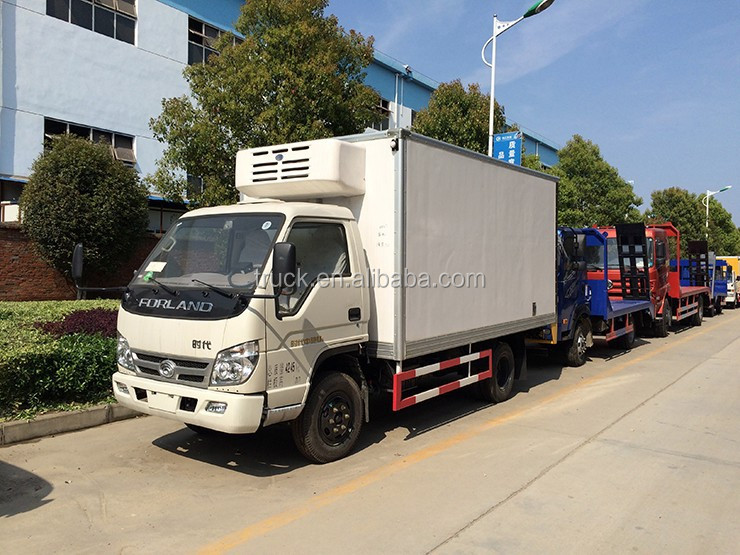 foton mini refrigerated van trucks