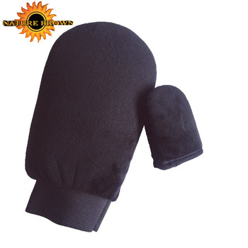 Double Sided Washable Self Tanning Mitt Applicator With Wrist Elastic And Mini Facial Tan Mitt