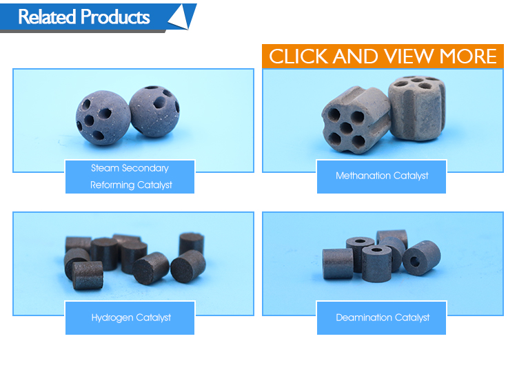 Seven holes cylindrical types of aluminium oxide catalyst