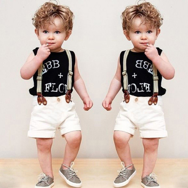 F20169A European fashion design boy's shirt+pants+braces clothes sets children clothing 2016 for kids