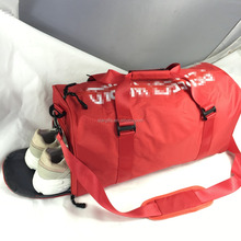 Wholesale outdoor sports use waterproof polyester duffel bag with shoe compartment