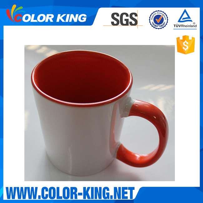 wholesale Sublimation inner color and rim color mug for small business new customized mug
