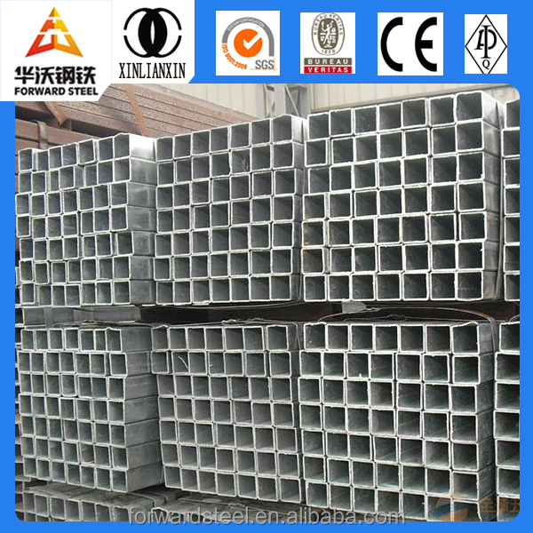 Q195 galvanized square pipe/ steel asian rectangular black tube
