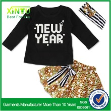 2017 custom made brand name kids clothes, kids top clothes brands