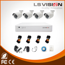 LS VISION Waterproof Outdoor HD Analog Camera 960P 1.3MP H.264 4CH DVR Combo CCTV Camera Kit Security Camera Systems for Home