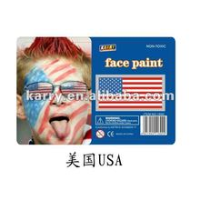 TARGET Audited Supplier,USA national flag non-toxic face paint