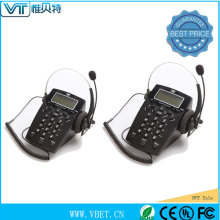 hands-free call center equipment with rj9 port
