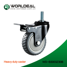 Europe Hot sale 3 or 4 inches wheel Industrial stem caster with brake