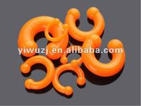 hot hot wholesale Gauges silicone orange horseshoe Piercing circular barbell