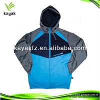2014 new polyester hooded Windbreaker for men out door camping hiking wear