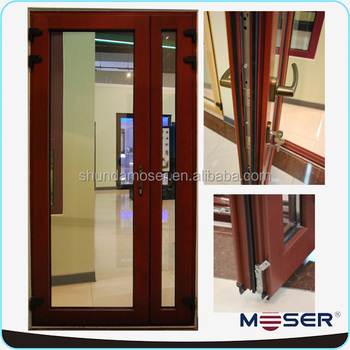 Wooden double glass hinged exterior french door window buy wooden door window hinged french for Wooden double glazed french doors exterior