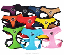 Solid Color Adjustable Pet Harness Air Mesh Custom Dog Harness