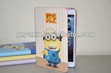 Despicable me minions wallet leather case,DESPICABLE ME MINION CARTOON STAND SMART LEATHER CASE COVER FOR IPAD 2/3/4
