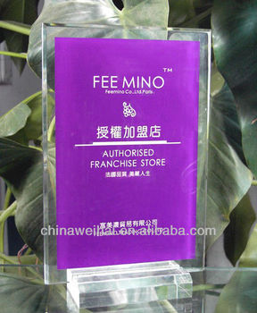 Yiwu OEM Clear Acrylic Certificate Display Holder