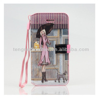 Best Cute Case For iPhone 5S,Lady Wallet Magnetic PU Leather Stand Case Flip Cover For Apple iPhone 5S 5C