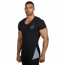 Pure Colors Men Black Cheap Custom Fashion Gym t Shirt