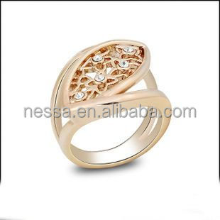 stainless steel crystal ring for women